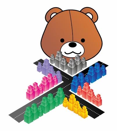 city bear Vector