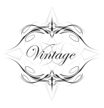 flourish vintage full art Vector