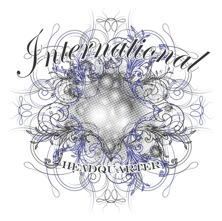 floral vintage art international Vector