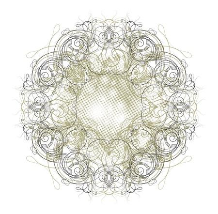 more vintage floral blend Vector