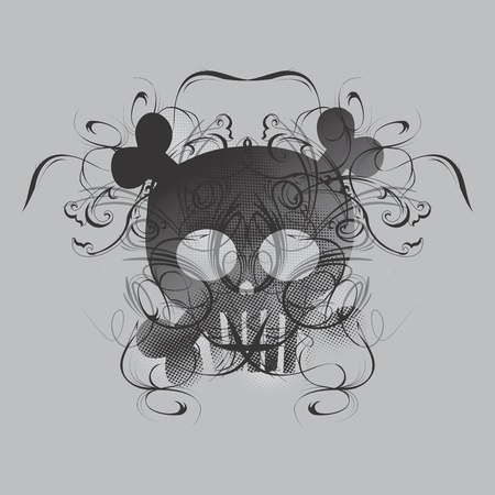 more skull more grey Vector