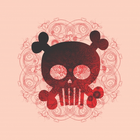 more skull more pink Stock Vector - 16395294