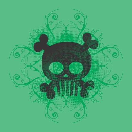skull more green Stock Vector - 16395292