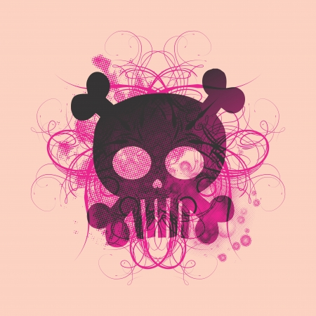 skull more pink Stock Vector - 16395302