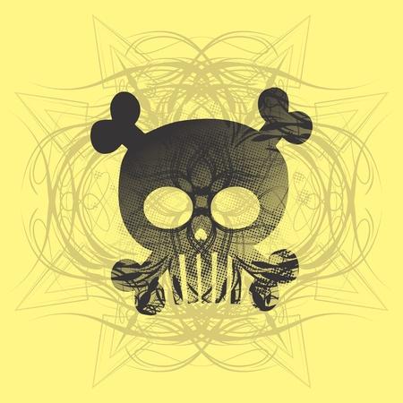 skull more yellow Stock Vector - 16395295