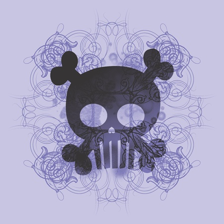 skull more purple Vector