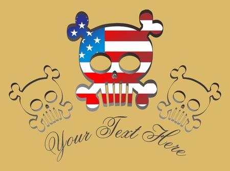 skull more american Stock Vector - 16395239