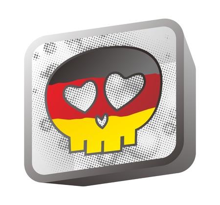 skull in flag germany Stock Vector - 16395256