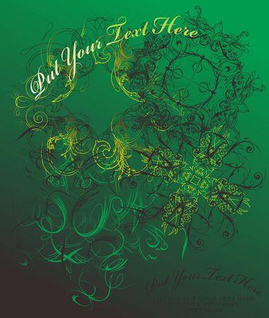 vintage color floral green