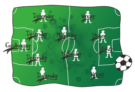 soccer field Stock Vector - 16856000