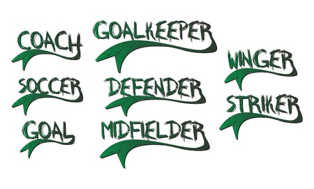 greenfield: soccer text Illustration