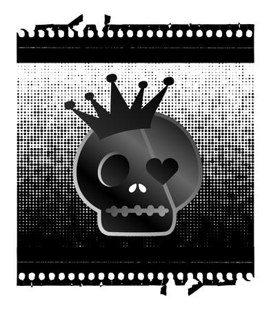 bad skull dots Stock Vector - 16395291