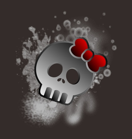 bad skull lady Stock Vector - 16395300