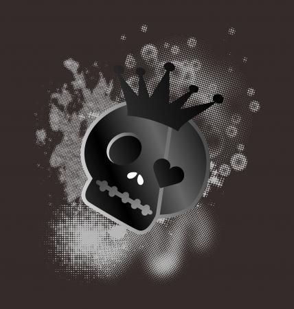 bad skull king Stock Vector - 16395298