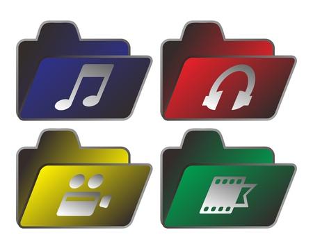 gibbose: web button folder Illustration