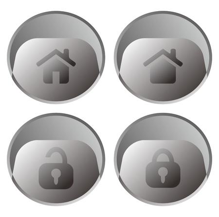 gibbose: web button grey Illustration