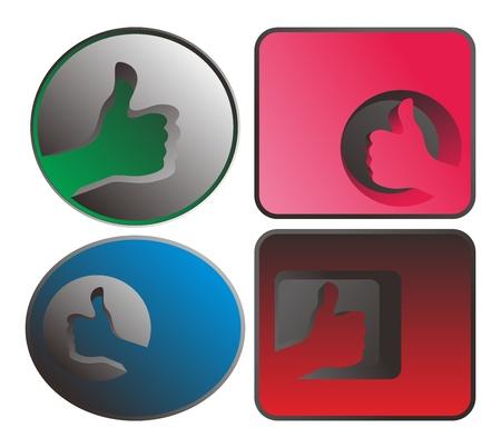 gibbose: web button Illustration