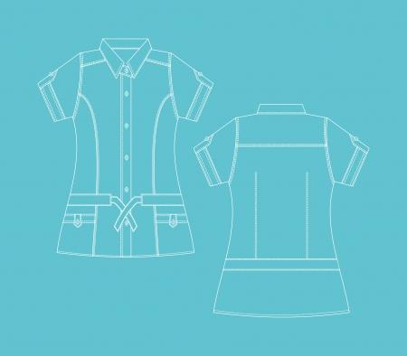 dress apparel for girl Stock Vector - 16944086