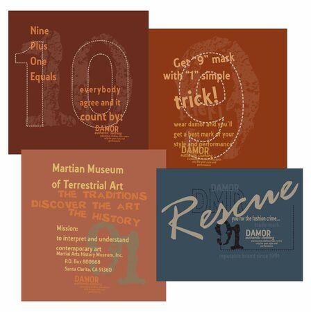 quartered: design graphic set