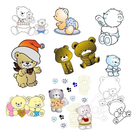 doodle cute bear