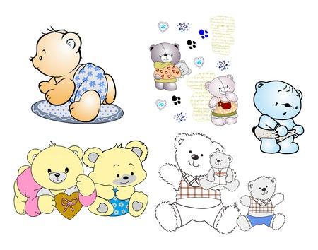 bear random doodle Illustration