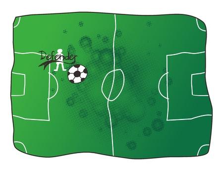 defender: soccer defender Illustration