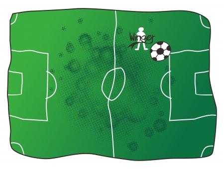 winger: soccer winger Illustration