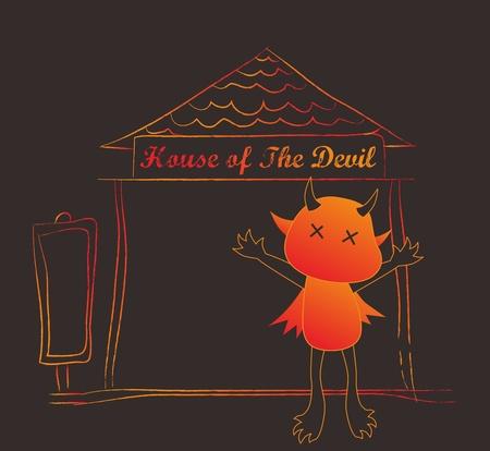 diabolical: satan house Illustration