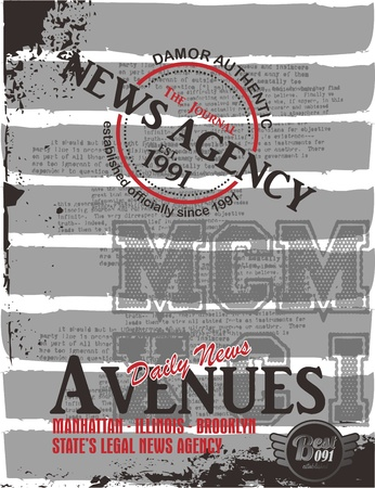 news grungy art Stock Vector - 17065584