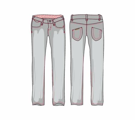 pants for girl denim Stock Vector - 17129596