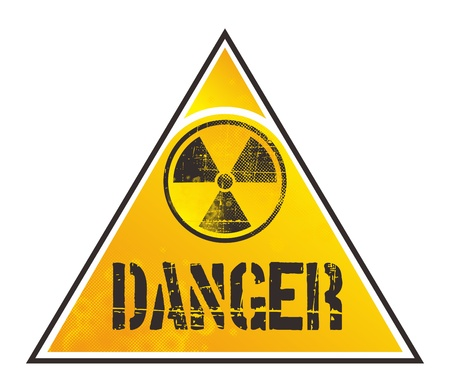 danger nuclear sign  Illustration