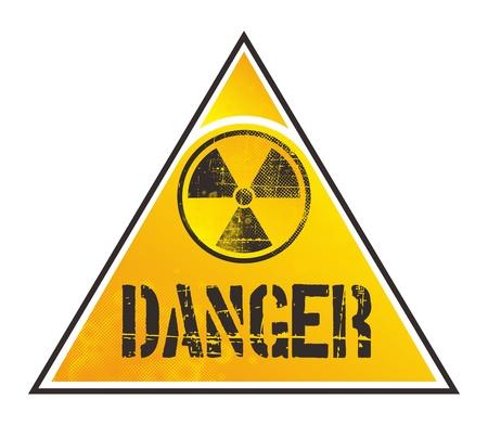 uranium: danger nuclear sign  Illustration
