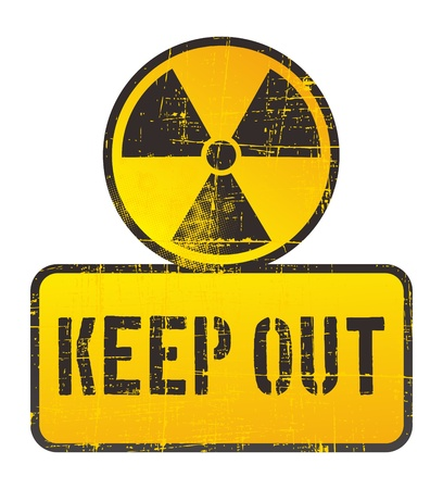 keep out: danger nuclear sign keep out Illustration