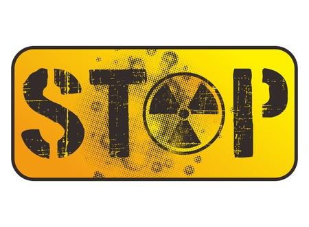 danger nuclear sign stop Stock Vector - 17129608