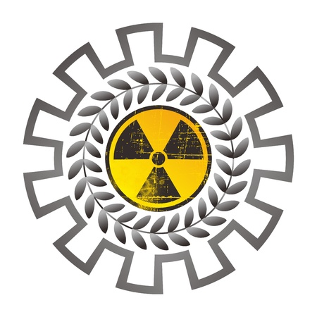 danger nuclear sign round Vector