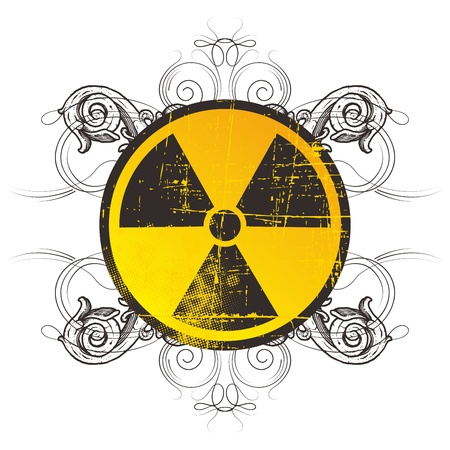 danger nuclear sign flourish