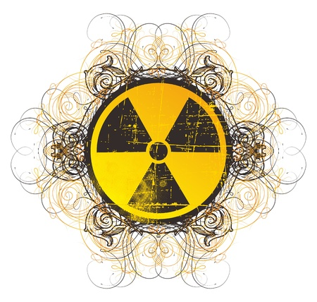 danger nuclear sign vintage Stock Vector - 17129616