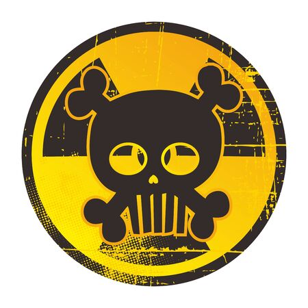 skull danger label
