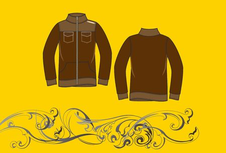 brown jacket Vector