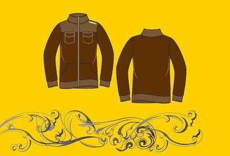 brown jacket Stock Vector - 17106207