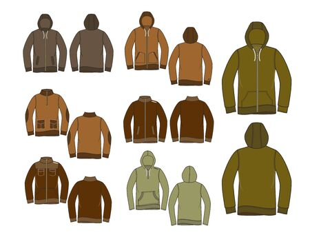 raglan: jacket hood set Illustration
