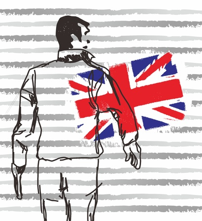 british man walk Vector
