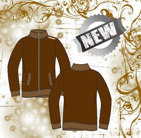 floral apparel jacket Stock Vector - 17106152