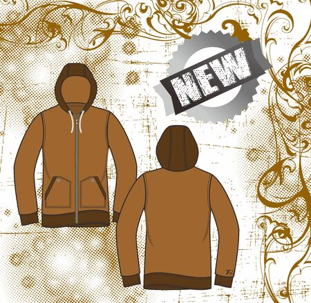 floral apparel hood Stock Vector - 17106154