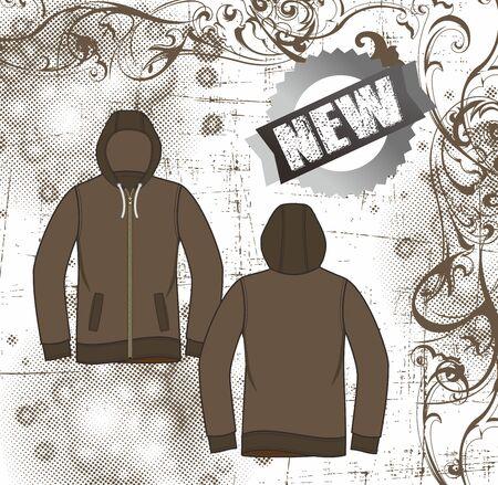 floral apparel dark Stock Vector - 17106153