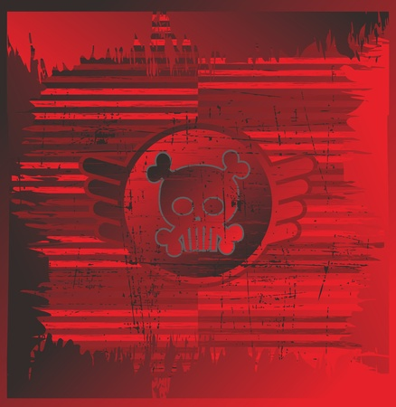 red page skull Stock Vector - 17106147