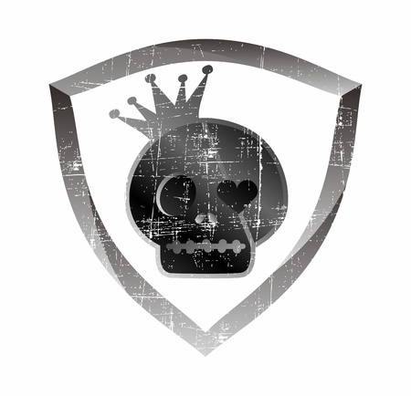 skull shield Stock Vector - 17106138