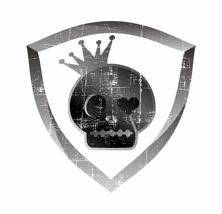 skull shield Stock Vector - 17106138