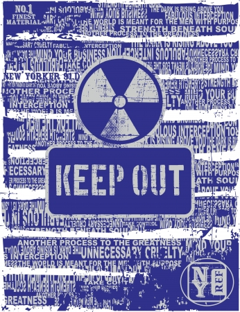 keep out page Stock Vector - 17106096