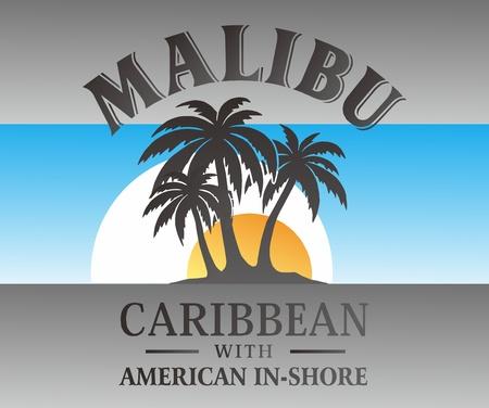 malibu: malibu graphic Illustration